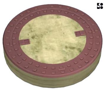 Deksels-gietijzer–beton-rond