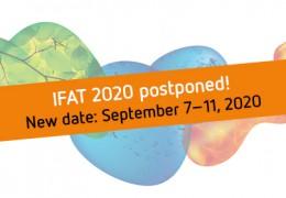 IFAT 2020 uitgesteld naar 7-11 september 2020